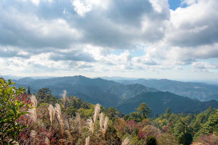 View of the Kii mountain range, Koyasan