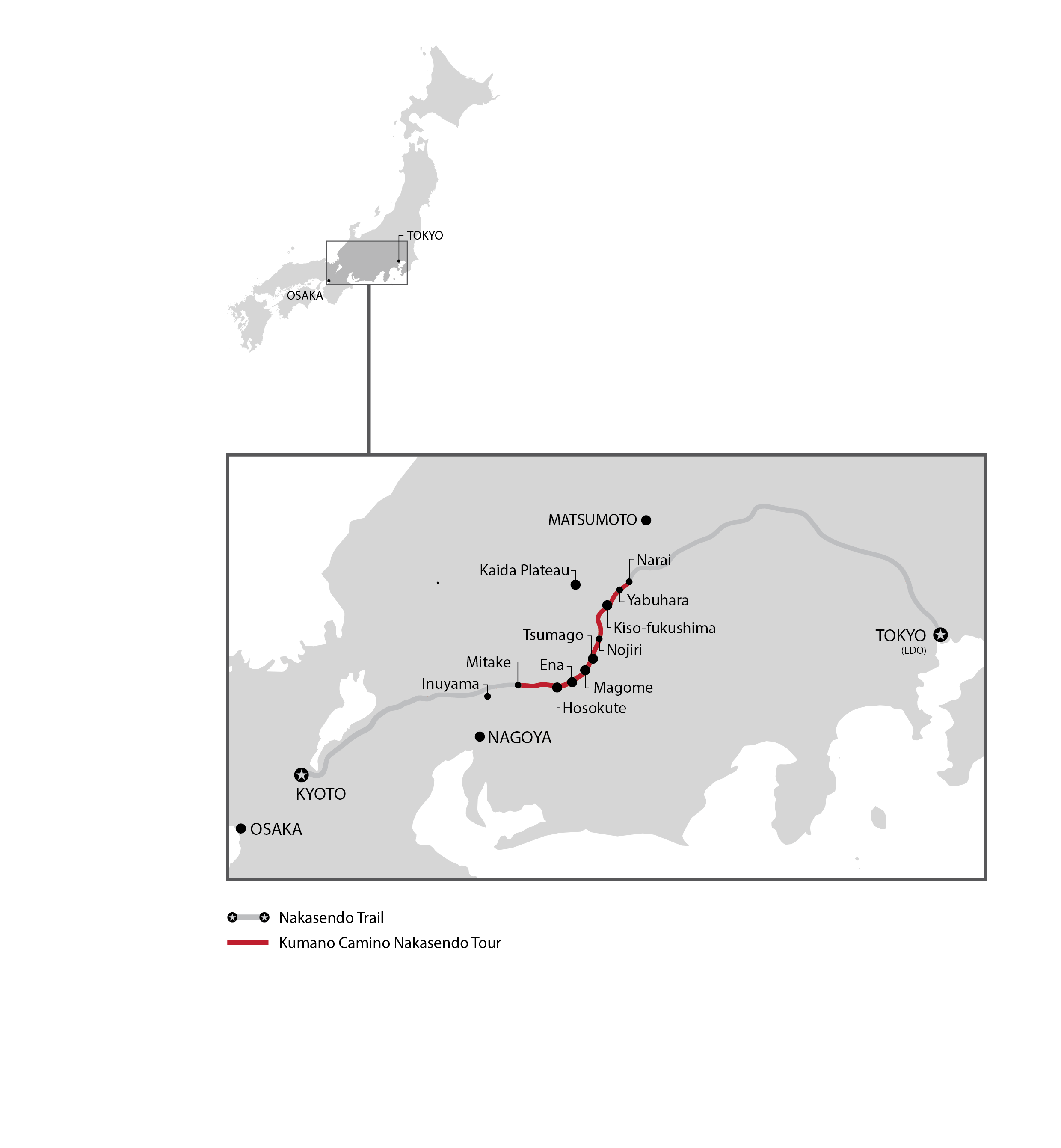 Nakasendo Map